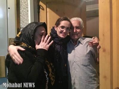 Maryam vanhempiensa kanssa. Kuva: Mohabat News