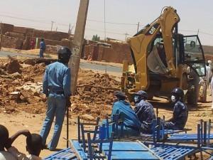 Sudanin Church of Christ -kirkko Omdurmanissa, joka tuhottiin helmikuussa 2014. Kuva: Morning Star News