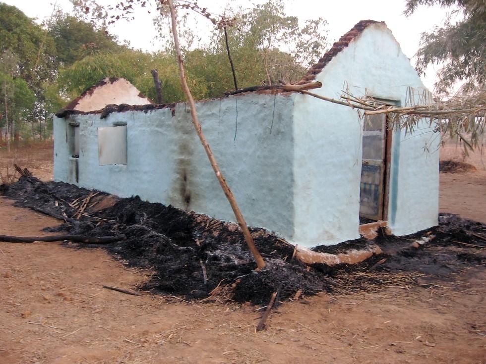 450-NSS-199 Church Burnt in Orissa01